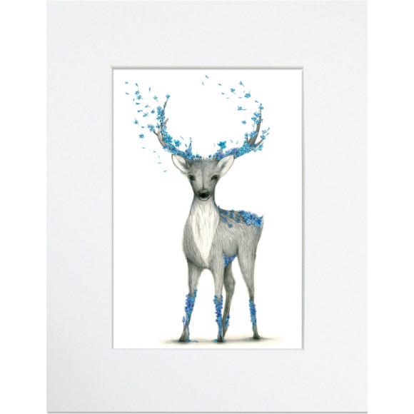 botanical deer print