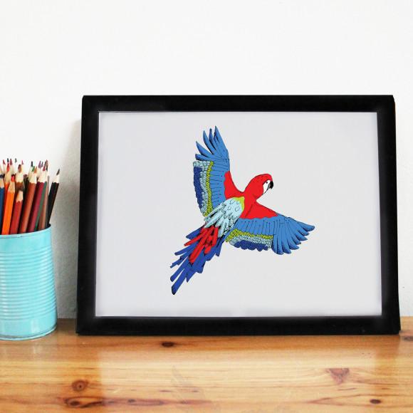 Majestic Macaw Print Main