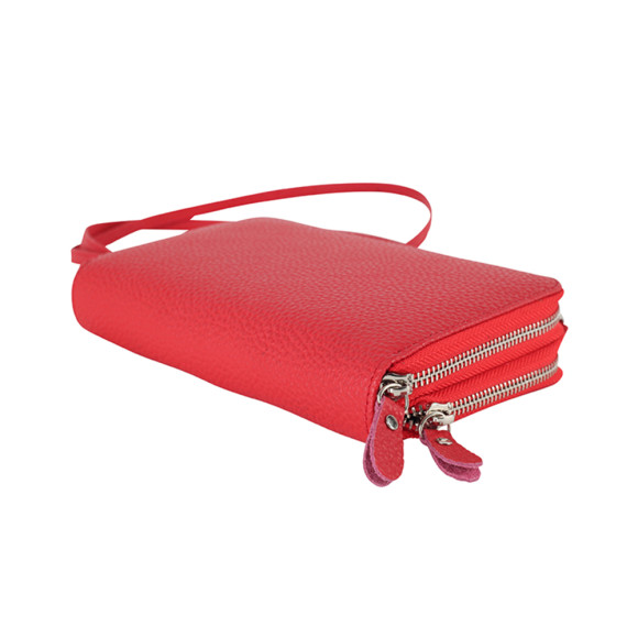 Red Double Wallet/Clutch