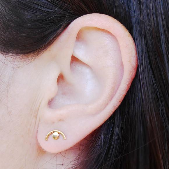 Eye Stud Earrings Model