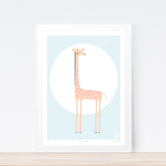 Little Giraffe Art Framed