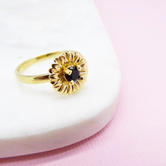 daisy ring 14k gold