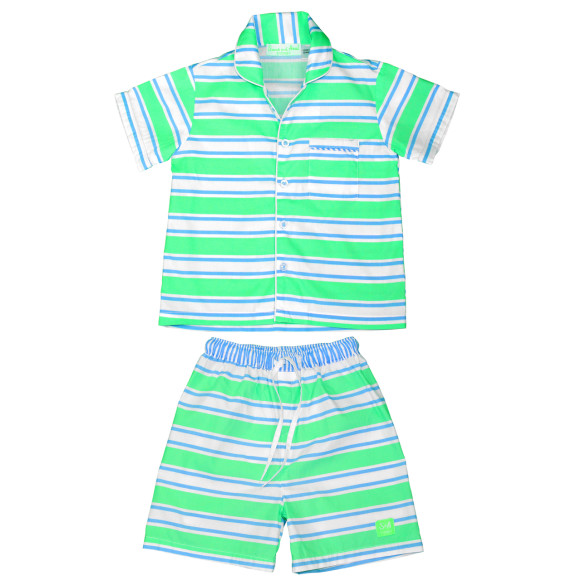 boys green pj set