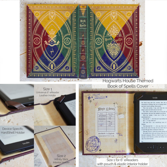Hogwarts House Themed Book of Spells