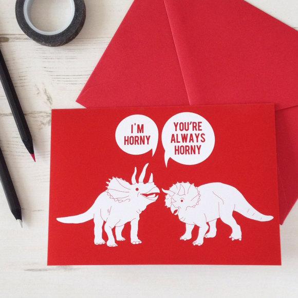 Horny Dinos Card