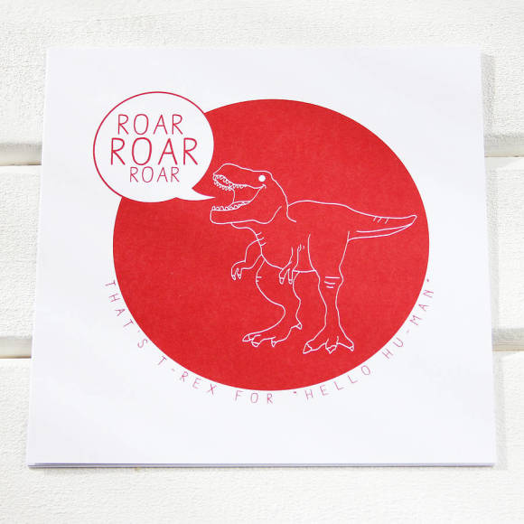 Dinosaurs letter writing postcards (set of 5)
