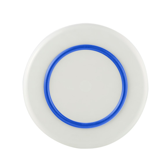 White with Navy Blue non-slip ring