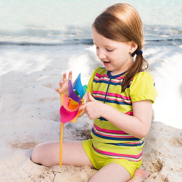 Polly wears Sunshine Beat