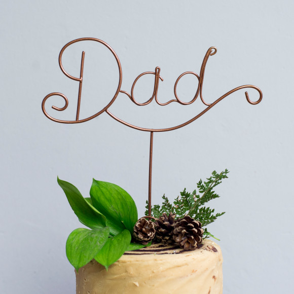 Dad cake topper