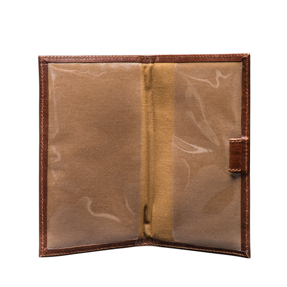 Sestino golf score card holder in chestnut brown
