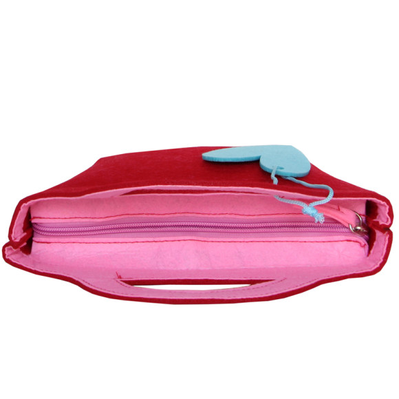 Little Lady Felt Handbag - Red