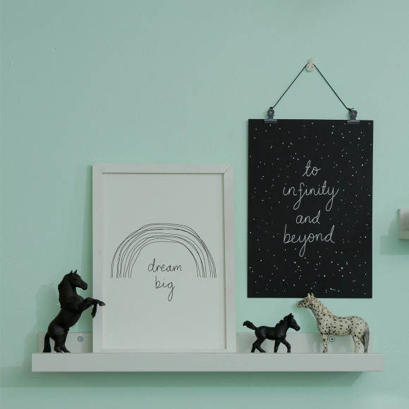 A cute combo for a kid's room
