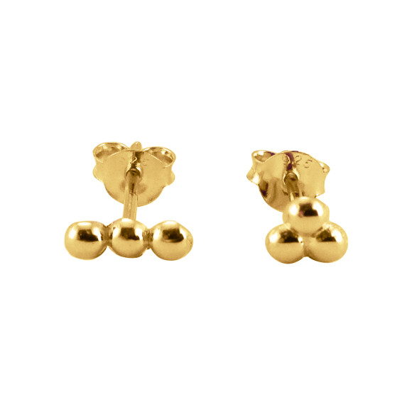 mismatched dots stud earrings gold