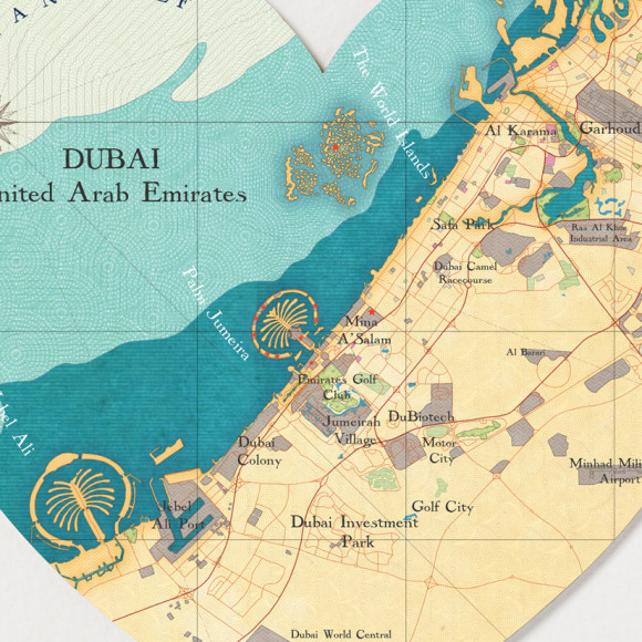 Dubai map heart print hardtofind dubai heart print gumiabroncs Image collections