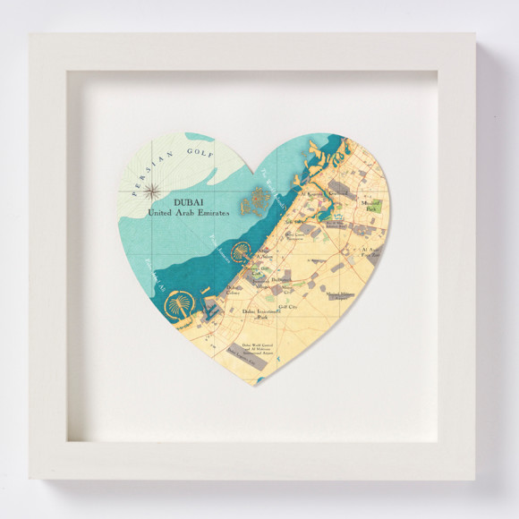 Dubai heart print