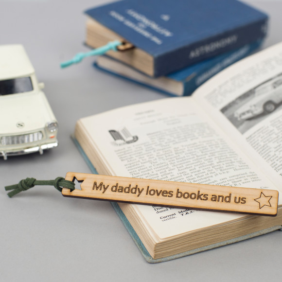 personalised father's day bookmark