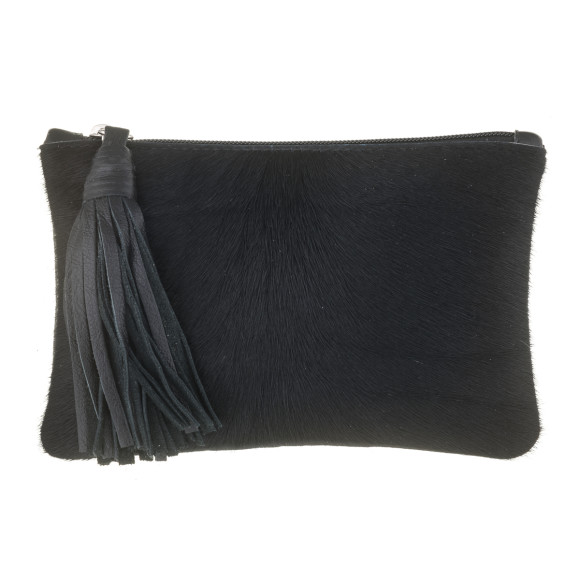 MOOI Chloe Black Clutch