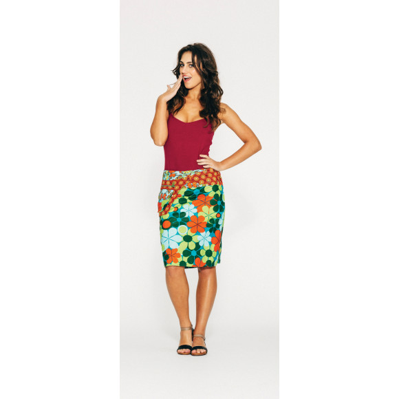 Rosanna Skirt Long - Retro Floral