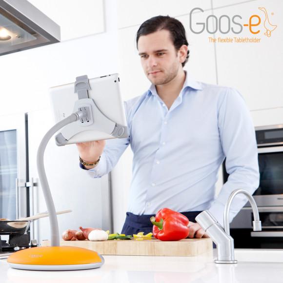 iPad stand in kitchen