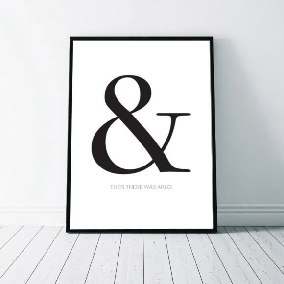 Ampersand Birth Announcement Wall Art Print