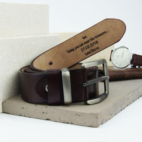 Personalised Men's Leather Belt
