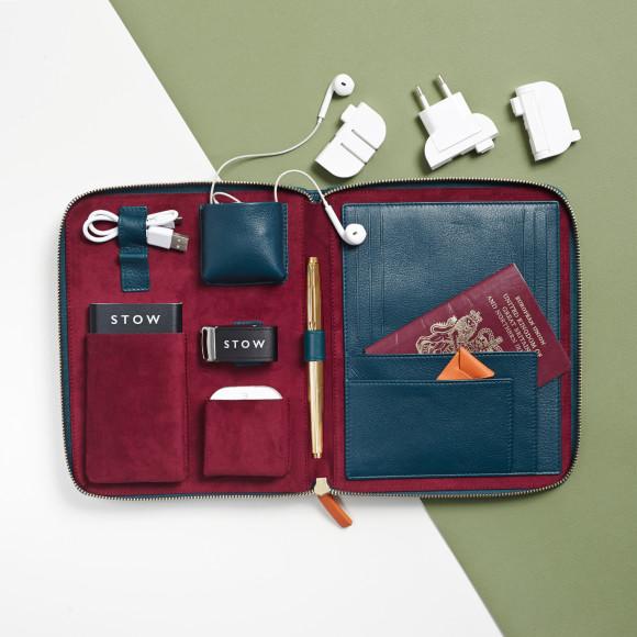 First Class Travel Tech Case & International Plug Bundle