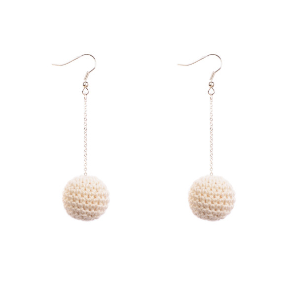 Earrings ivory