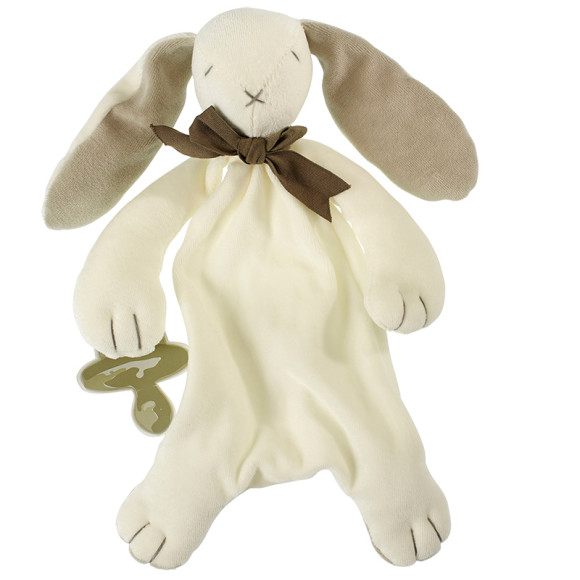 Grey Ears, Rose & Oscar Bunny Baby Soft Toy Comforter