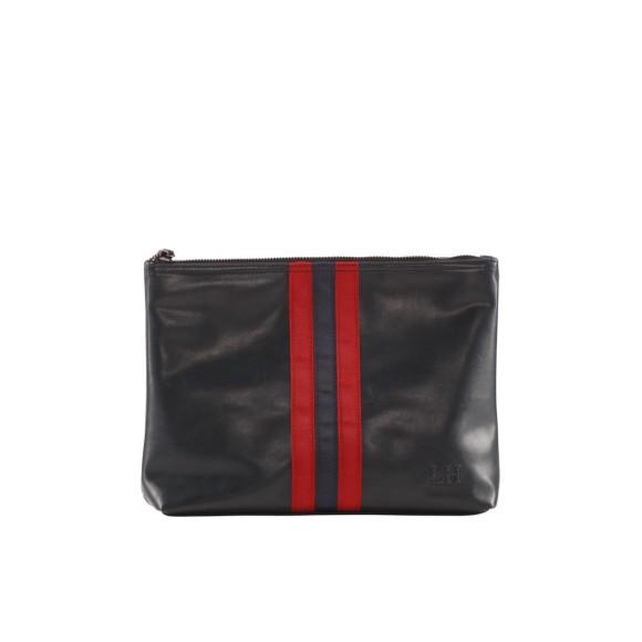 Navy red stripe