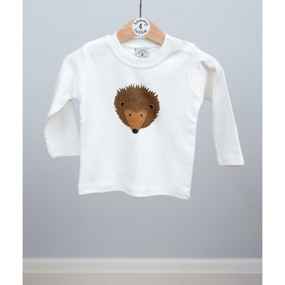 baby long sleeve hedgehog t shirt
