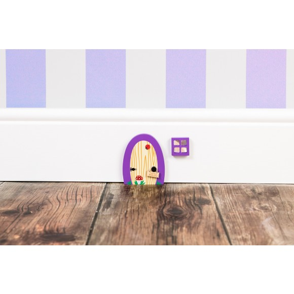 Violet fairydoor inside