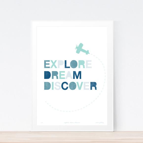 Explore Art Print (Framed)