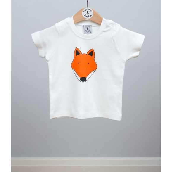 baby short sleeve fox t shirt