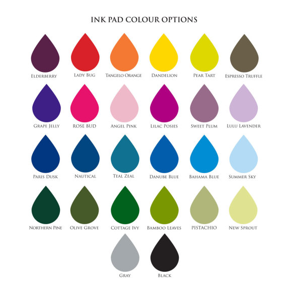 ink pad colour options