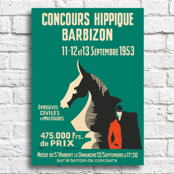 French Horse Show: Unframed
