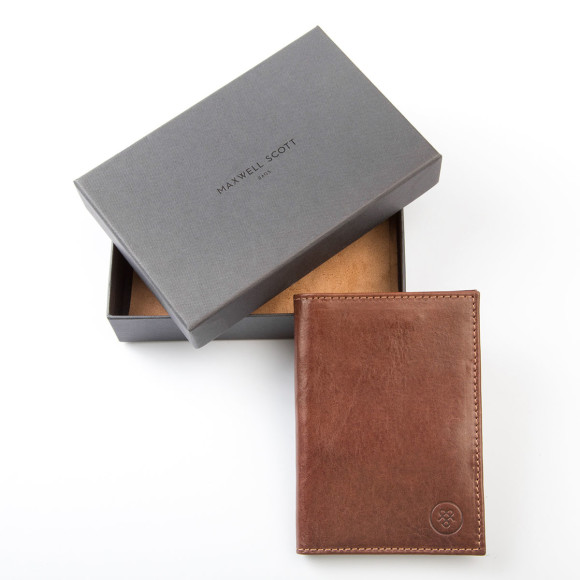 Leather passport gift box