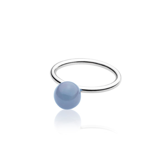 Blue Elements Small Ball Ring