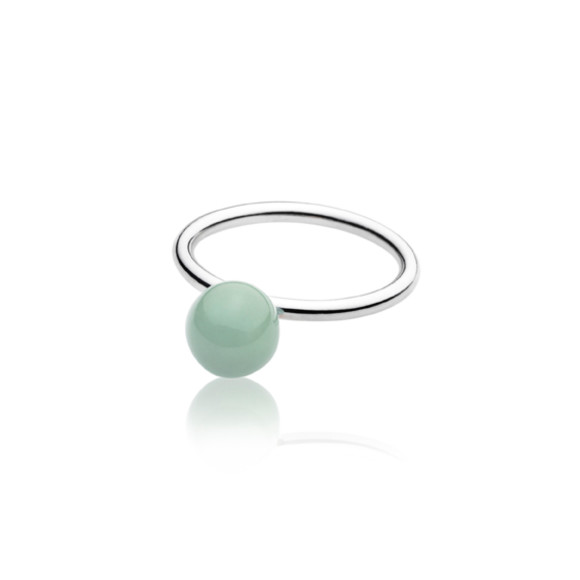 Green Elements Small Ball Ring