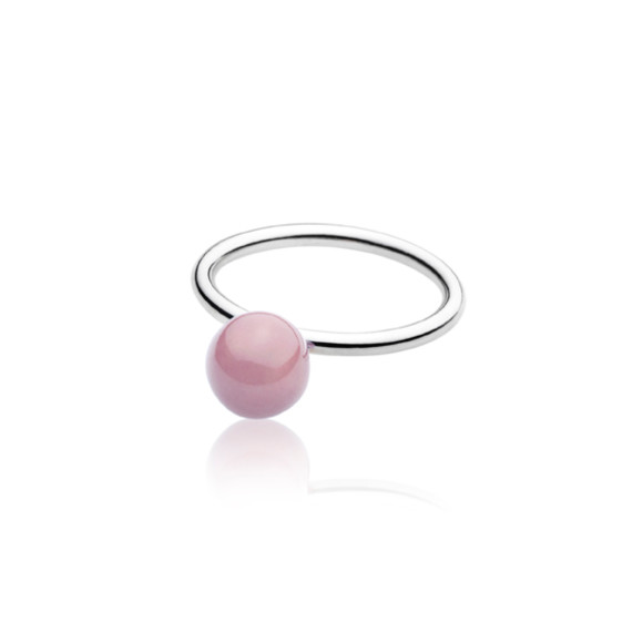 Purple Elements Small Ball Ring