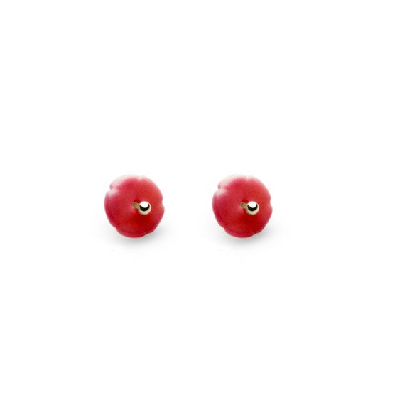 Red Elements Flower Studs