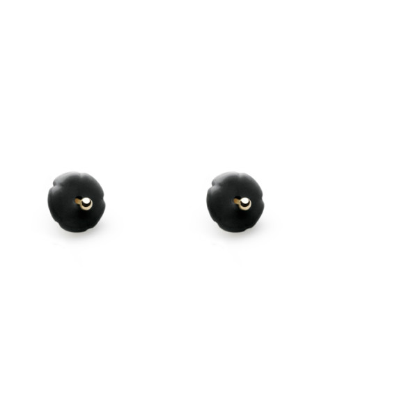 Black Elements Flower Studs