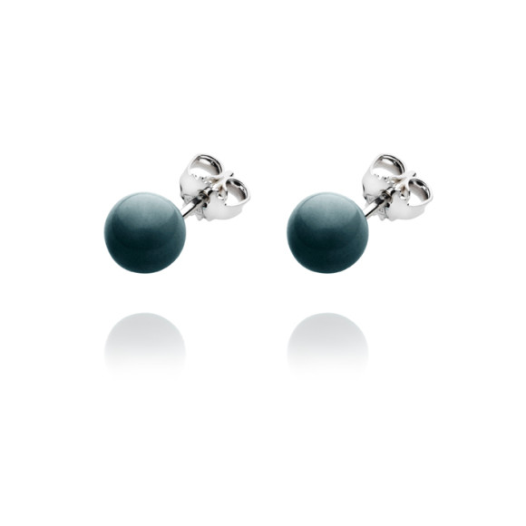 Elements stud ball earrings in black