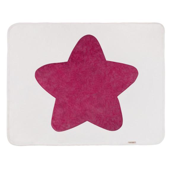Raspberry baby Star Blanket