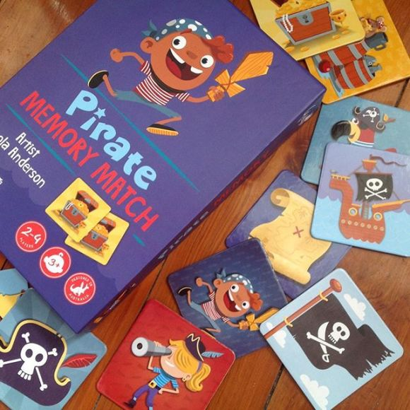 Pirate memory game glottogon