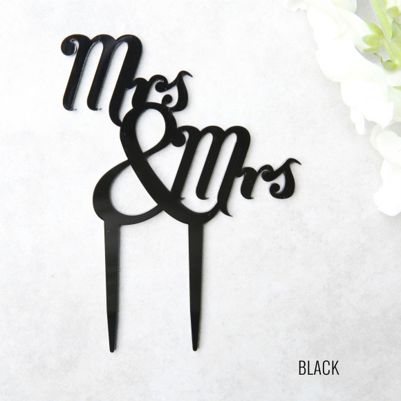 Black Wedding Cake Topper
