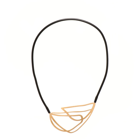 Entwine-Necklace-22ct Matt Gold Plate