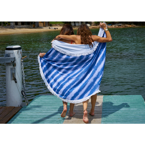 Beach Blanket Australia: Bush Track Large Luxury Round Beach Towel