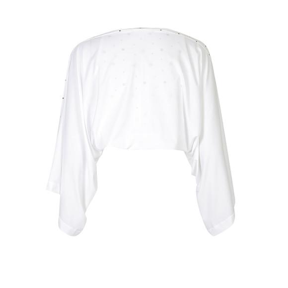 UPF50+ Sun Shrug - White with White/Black dots