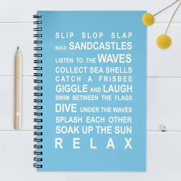 Beach Rules Notebook - Large
