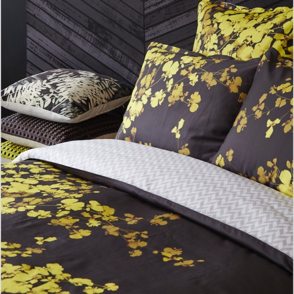 Bloom Gold Quilt Cover Set